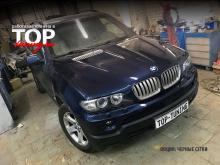 5573 Передний бампер 4.8 IS на BMW X5 E53