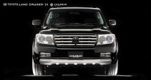 Тюнинг Toyota Land Cruiser 200 (дорестайлинг) - Юбка на передний бампер GoldMan.