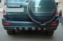 Тюнинг Ленд Крузер 100 - Накладка на задний бампер Red Aleti.