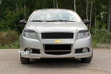 Тюнинг Шевролет Авео 1 (рестайлинг, хэтчбек, 3дв.) - Накладки на переднюю оптику GT.