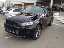 5658 Накладка на задний бампер Je Design на VW Touareg II