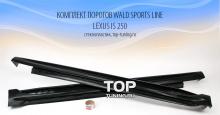 5665 Комплект порогов WALD Sports Line на Lexus IS 250