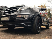 5686 Накладка на передний бампер IXION (ABS) на Kia Sportage 3 (III)