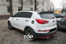 Юбка заднего бампера - Модель Ixion - Тюнинг Kia Sportage 3 (III)