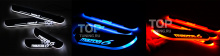 706 Светящиеся пороги в салон на Mazda 6
