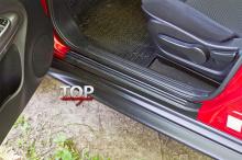 5739 Накладки на внутренние пороги на Nissan Juke