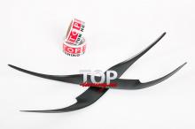 5747 Накладки на переднюю оптику FX (рестайлинг) на Toyota Camry V40 (6)