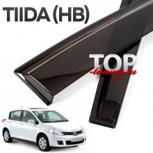 5786 Ветровики окон оригинальные Premium на Nissan Tiida