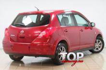5786 Дефлекторы окон оригинальные тонированные на Nissan Tiida