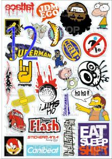5790 Наборы наклеек Sticker Bombing (A3)