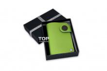 В магазине Топ-Тюнинг можно выбрать визитницу на любой цвет: черный, бежевый, голубой, зеленый, красный