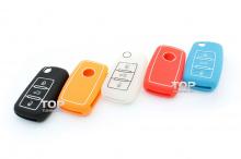 Компания Top-Tuning представляет силиконовые чехлы для ключей нескольких цветовых гамм: белый, красный, оранжевый, синий и черный