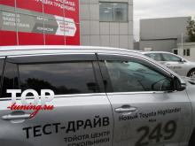 5871 Дефлекторы окон STEEL LINE на Toyota Highlander 3