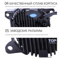Черные светодиодные противотуманные фары с ходовыми огнями Эпик - 2 в 1 - Тюнинг оптики Honda CR-V.