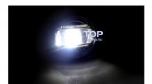 Черные светодиодные противотуманные фары с ходовыми огнями Эпик - 2 в 1 - Тюнинг оптики Ситроен.