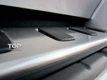 Накладка на задний бампер для Тойота Лэнд Крузер 200 (2008-2011), 200/202 (2012+), Лексус LX570 (-2012) из нержавеющей стали с резиновыми вставками