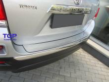 Накладка на задний бампер для Toyota Highlander (2011-2013) из нержавеющей стали