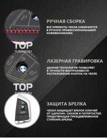 Стильные аксессуары для автомобилей БМВ - Кожаный чехол Lucky 4 Colors