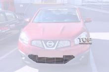 Решетка радиатора + решетка в бампер на Nissan Qashqai 1