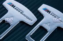 Универсальные обманки ремней M-Power BMW Motorsport Style (комплект 2 шт).