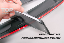 Ветровики дефлекторы на окна с хромированным молдингом и креплениями - Стайлинг Мазда СХ5.