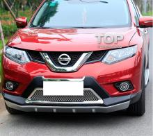Комплект TECH Design Avenger - Накладка на передний бампер с хромированными элементами - Тюнинг Nissan X-Trail T32