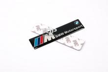 НАКЛЕЙКА ЭМБЛЕМА BMW Motorsport M - Размер 100 X 24 MM