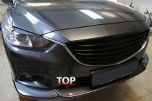 6091 Юбка переднего бампера STEALTH на Mazda 6 GJ