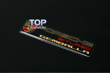 6118 Эмблема наклейка Gemballa Biturbo Gold 10x24 на Porsche