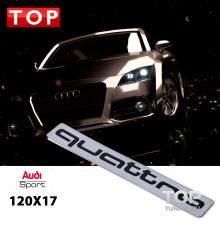 6119 Эмблема наклейка Quattro 120x17 Mirror Metall на Audi