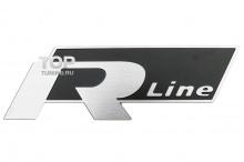 6120 Наклейка эмблема R-LINE 80x27 Slim на VW