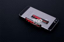 6123 Наклейки шильды TRD 60x14 2 шт. на Toyota Красные буквы