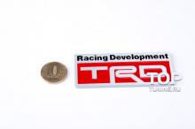 Алюминиевый шильд-наклейка на кузов - Модель TRD - Тюнинг Тойота.