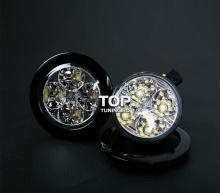Светодиодные фары 4 LED VINSTAR - Ультра яркие. Диаметр 7 см. 2 модели на выбор.