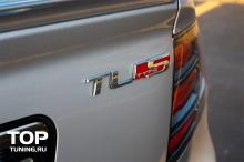 Хромированный шильдик ТАЙП С (TYPE S) - Стайлинг автомобилей Хонда (HONDA). Пластик. Поверхность - зеркальный хром. Размер 110 * 35 мм.