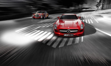 6162 Эмблемы AMG Driving Academy Black 63x18 Pair на Mercedes