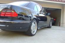 Накладки на пороги (пара) - Обвес AMG E55 - Тюнинг Мерседес E-Class W210 рестайлинг 1999- 2002