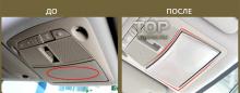 6176 Молдинг верхнего бардачка TECH Design на Nissan X-Trail T32
