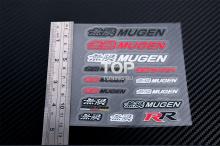 6205 Набор наклеек эмблем Mugen на Honda