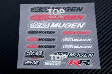 Комплект самоклеющихся эмблем-стикеров MUGEN - Тюнинг Honda Accord, Civic, Fit, Jazz и др.