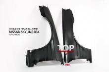 6207 Передние крылья +25мм. на Nissan Skyline R34
