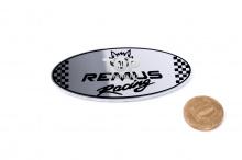 Зеркальный шильд РЕМУС (REMUS) из алюминеевого сплава - Овал - Размер 80*38 мм.