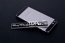 Алюминиевая эмблема TRD (Toyota Racing Development), черного цвета, с зеркальными буквами. Размер 110 * 17 мм.