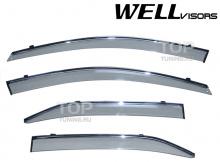 6239 Дефлекторы на окна Well Visors Chrome на Toyota Camry V40 (6)