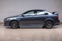 6243 Дефлекторы на окна Well Visors Premium на Mitsubishi Lancer 10 (X)