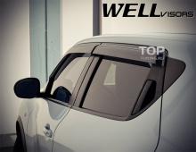 6245 Дефлекторы на окна Well Visors Premium на Nissan Juke