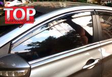 6248 Дефлекторы на окна Well Visors Chrome Line на Hyundai Sonata 6 (YF)