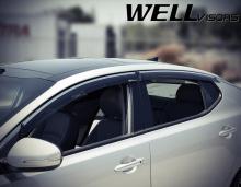 6250 Дефлекторы на окна Well Visors на Kia Optima 3 (K5)