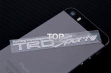 6251 Никелевая наклейка логотип TRD Sports 80x14 на Toyota
