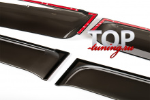 Оригинальные дефлекторы на окна - Стайлинг Toyota Land Cruiser Prado (2002-2009)
